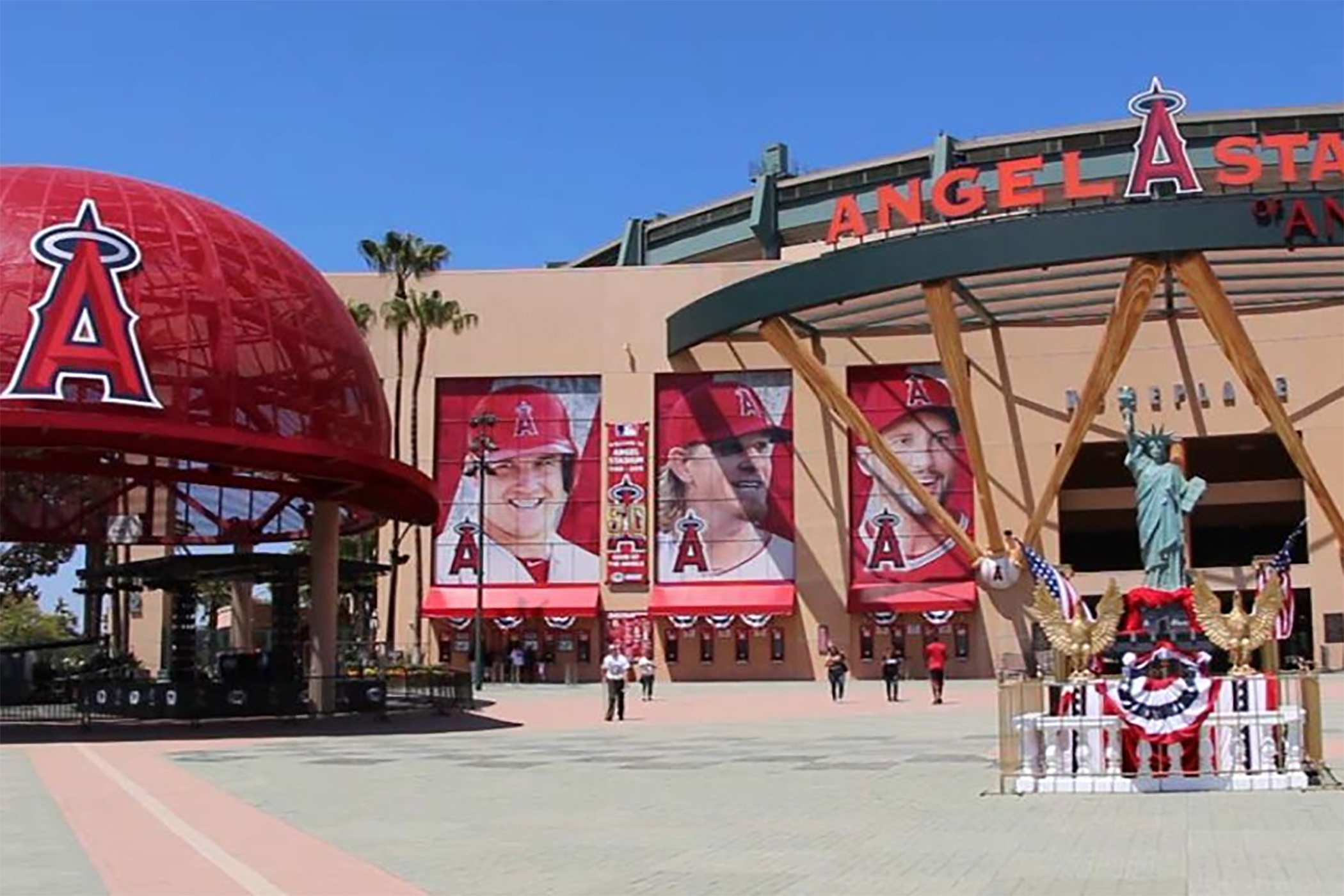 California sports venues such as Angel Stadium could resume games with no spectators by early June. (Major League Baseball)