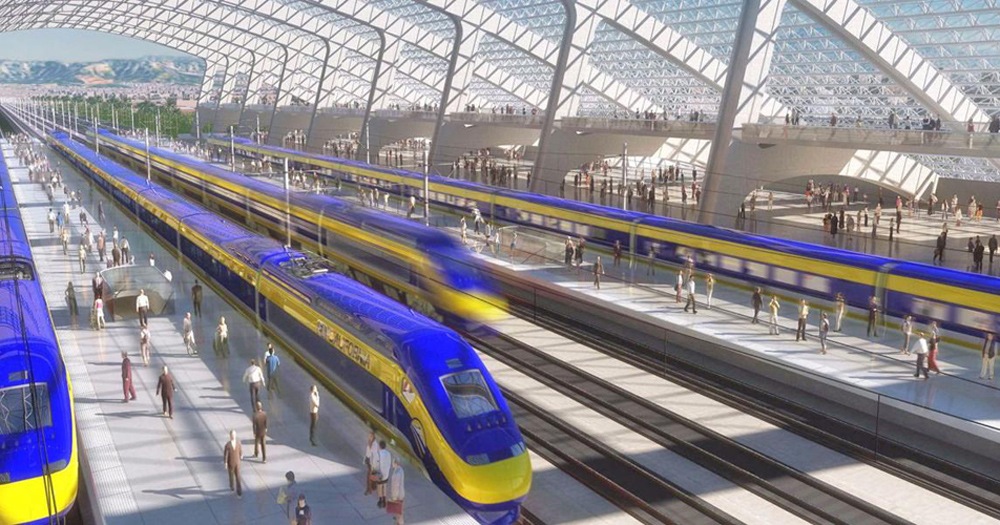 California had planned for a high-speed rail project between Los Angeles and San Francisco. Illustration: California High-Speed Rail Authority.