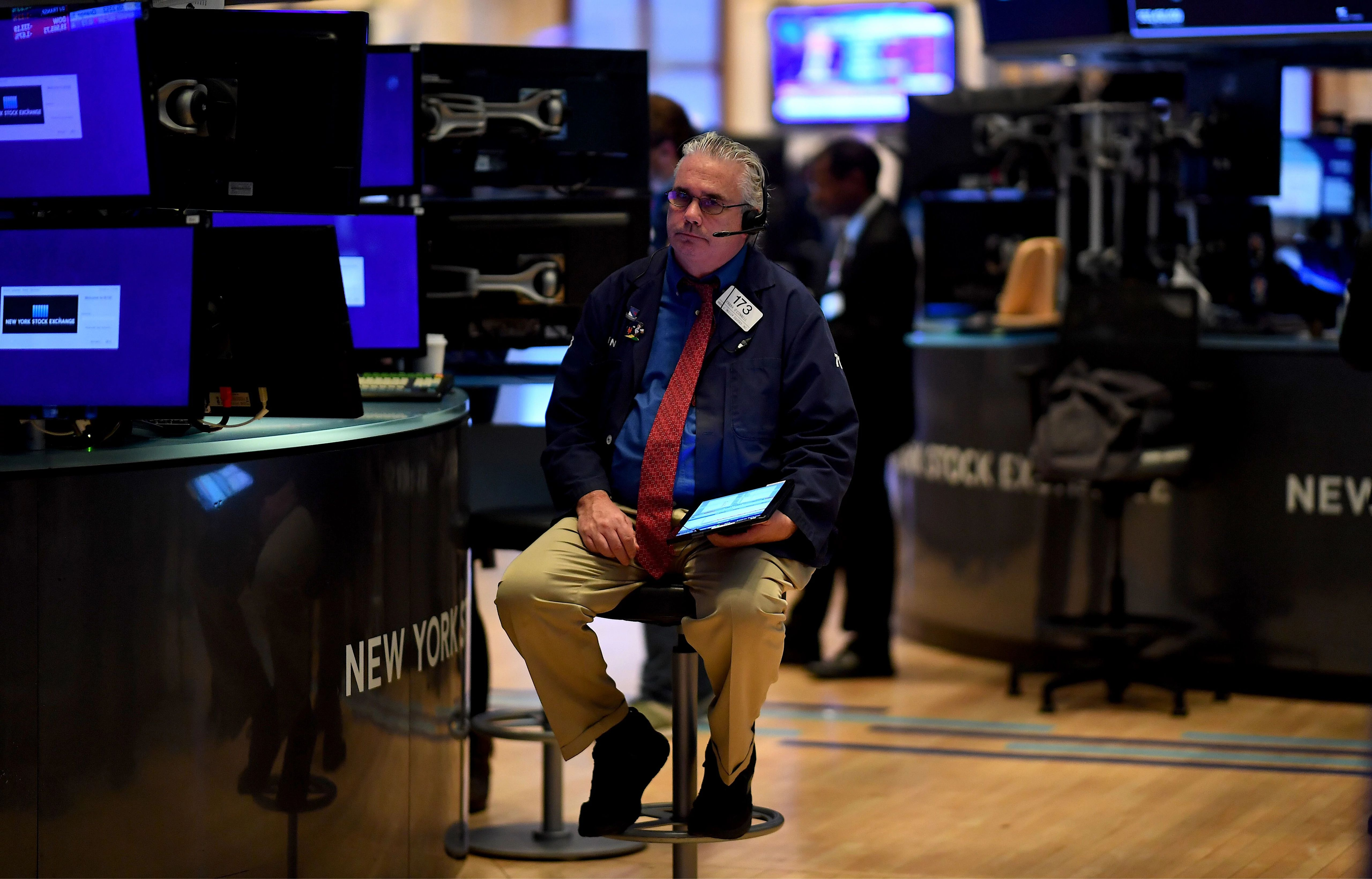 U.S. stock markets fell Tuesday as the 10-year Treasury yield rose to a three-month high. (Getty Images)