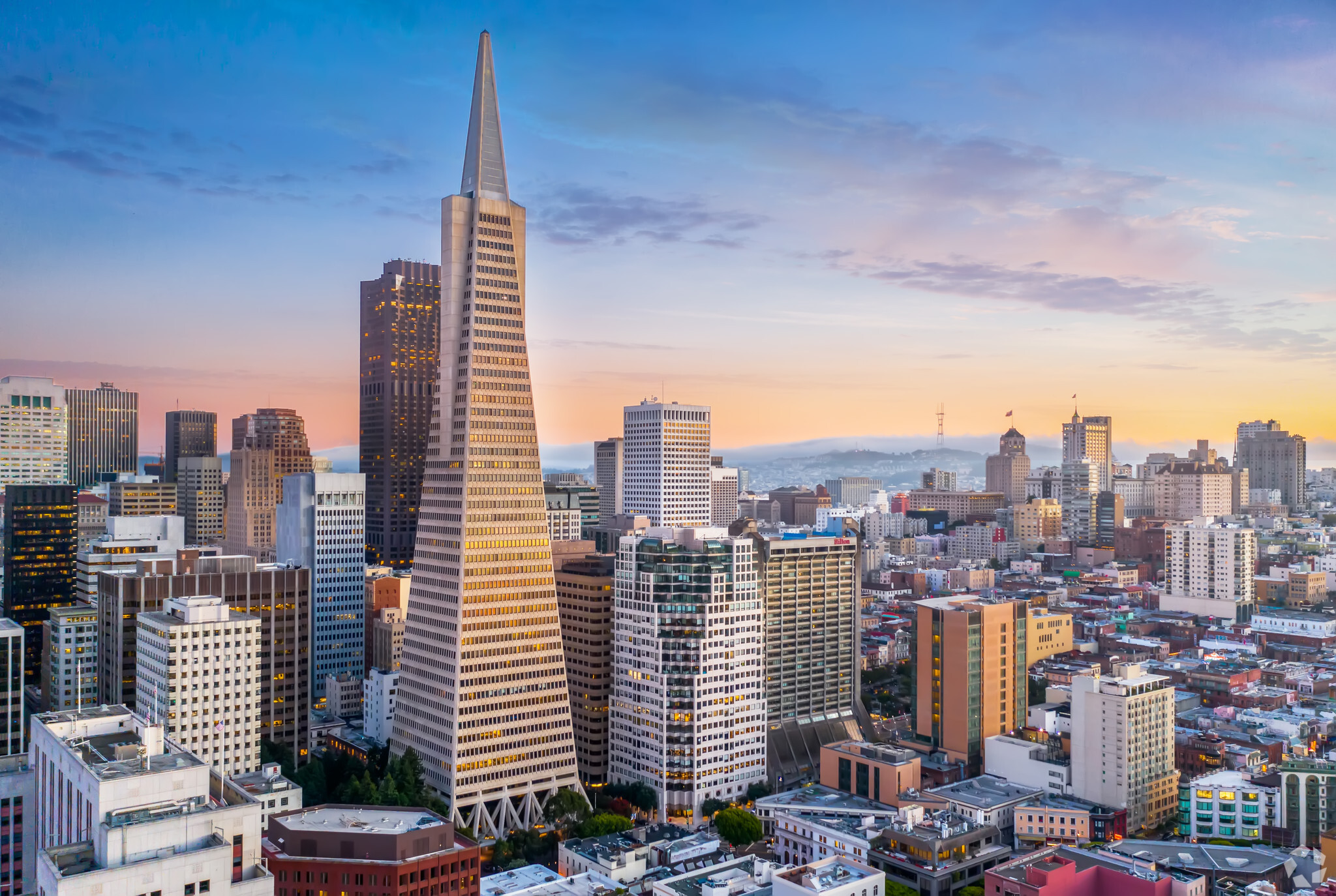 The Transamerica Pyramid building has been a mainstay of the San Francisco skyline since its 1972 opening. (CoStar)