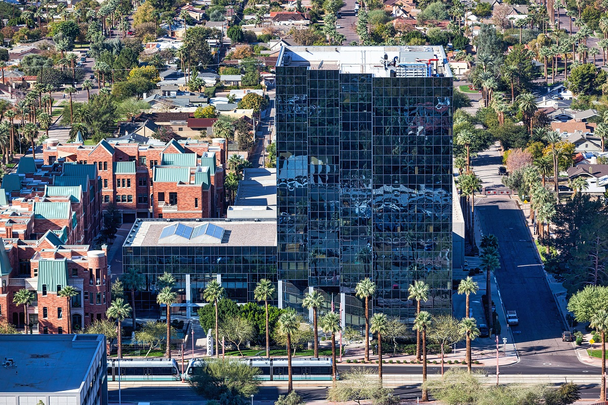 The Class A 2020 on Central office high-rise in Phoenix. Photo: Colliers International