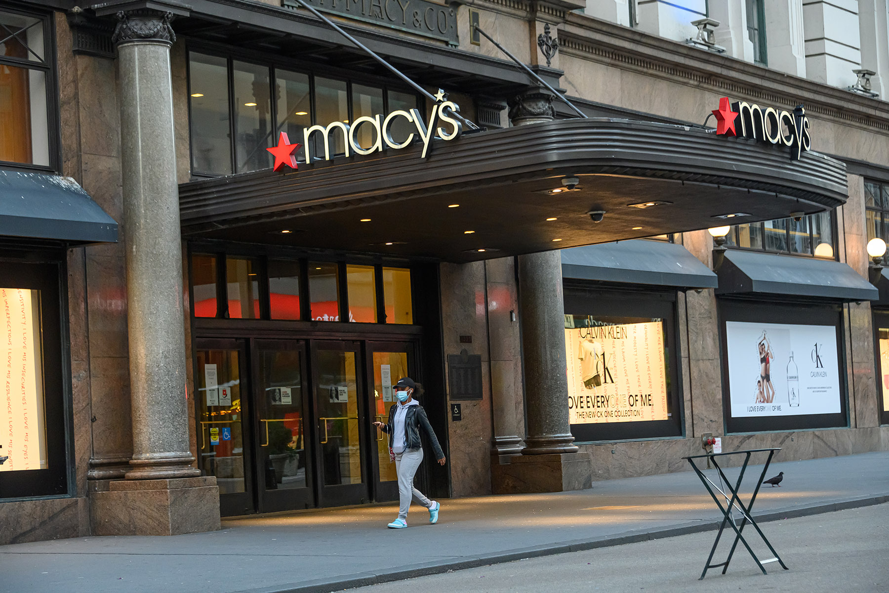Macy?s reported a third-quarter sales decline of 23% compared to a year earlier. (Getty Images)