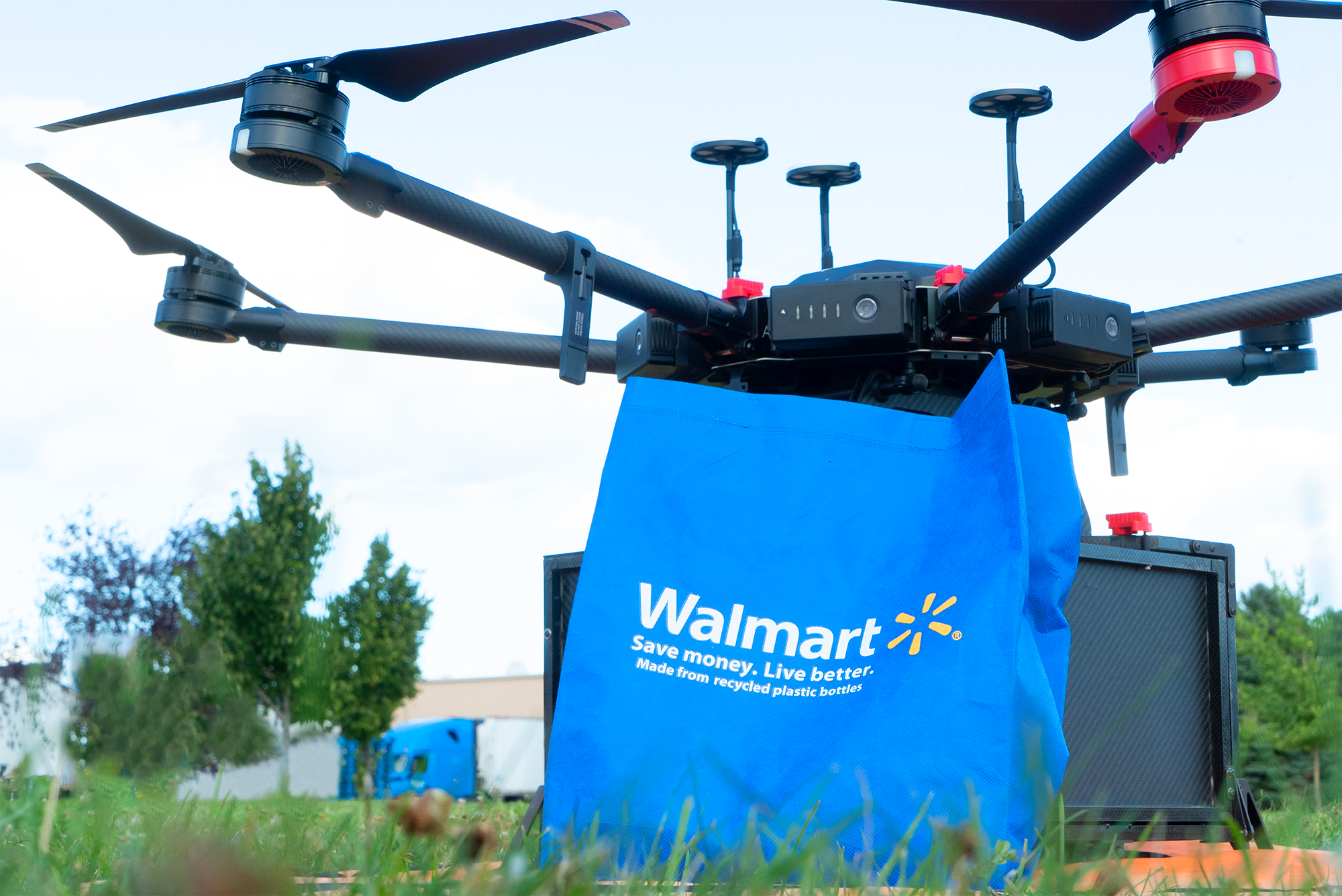 One of Walmart?s partners, an Israeli drone company called Flytrex, tested delivery drones in North Dakota and in Iceland. (Walmart)