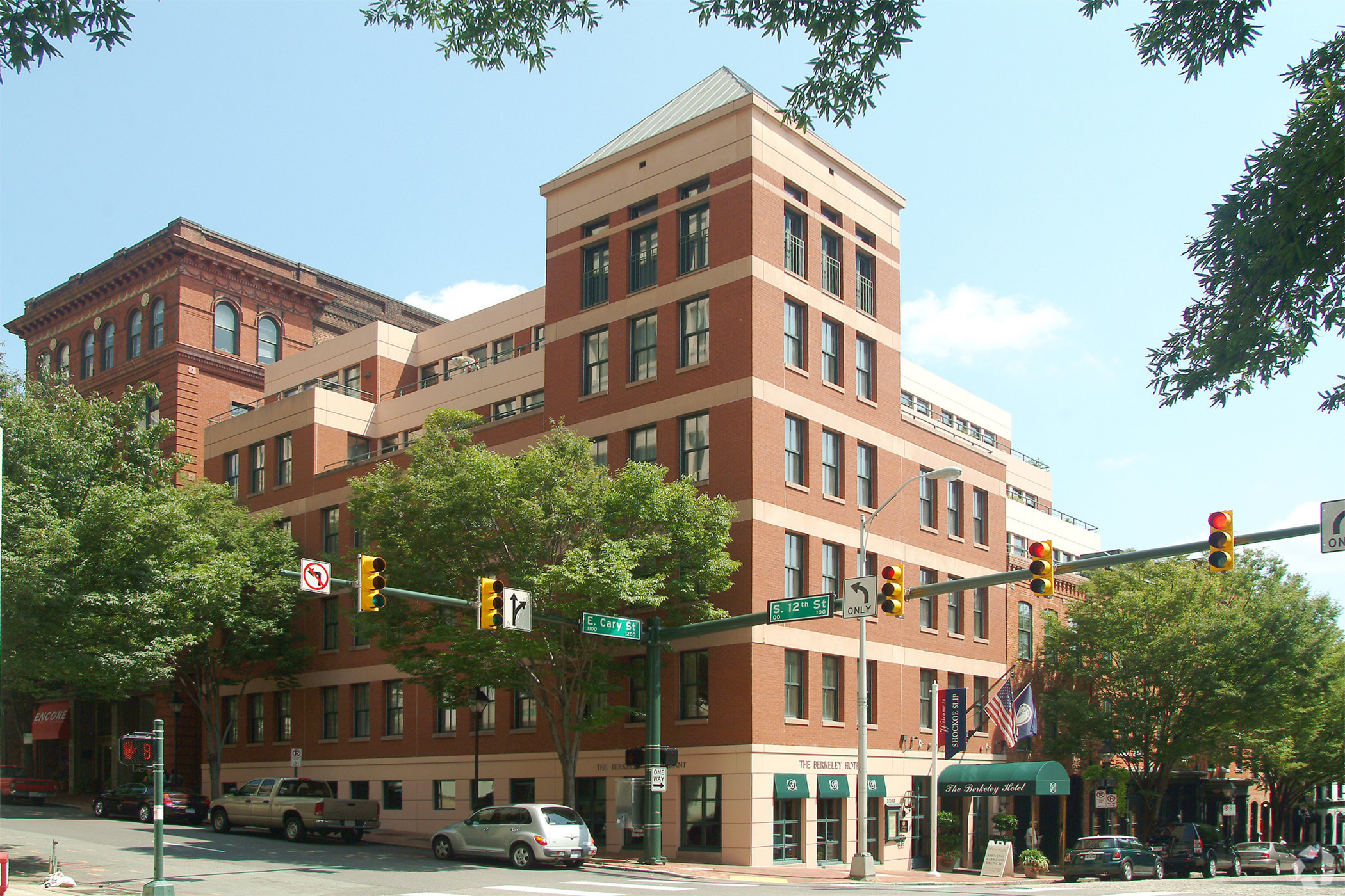 Berkeley Hotel in Richmond, Virginia, is one of the properties Apple Hospitality is rumored to have bought. (CoStar)