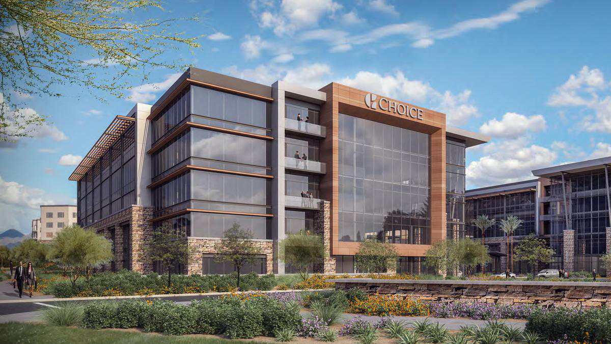 Choice Hotels' tech team is nearly doubling its size in Scottsdale, Arizona. (Rendering: Choice Hotels)