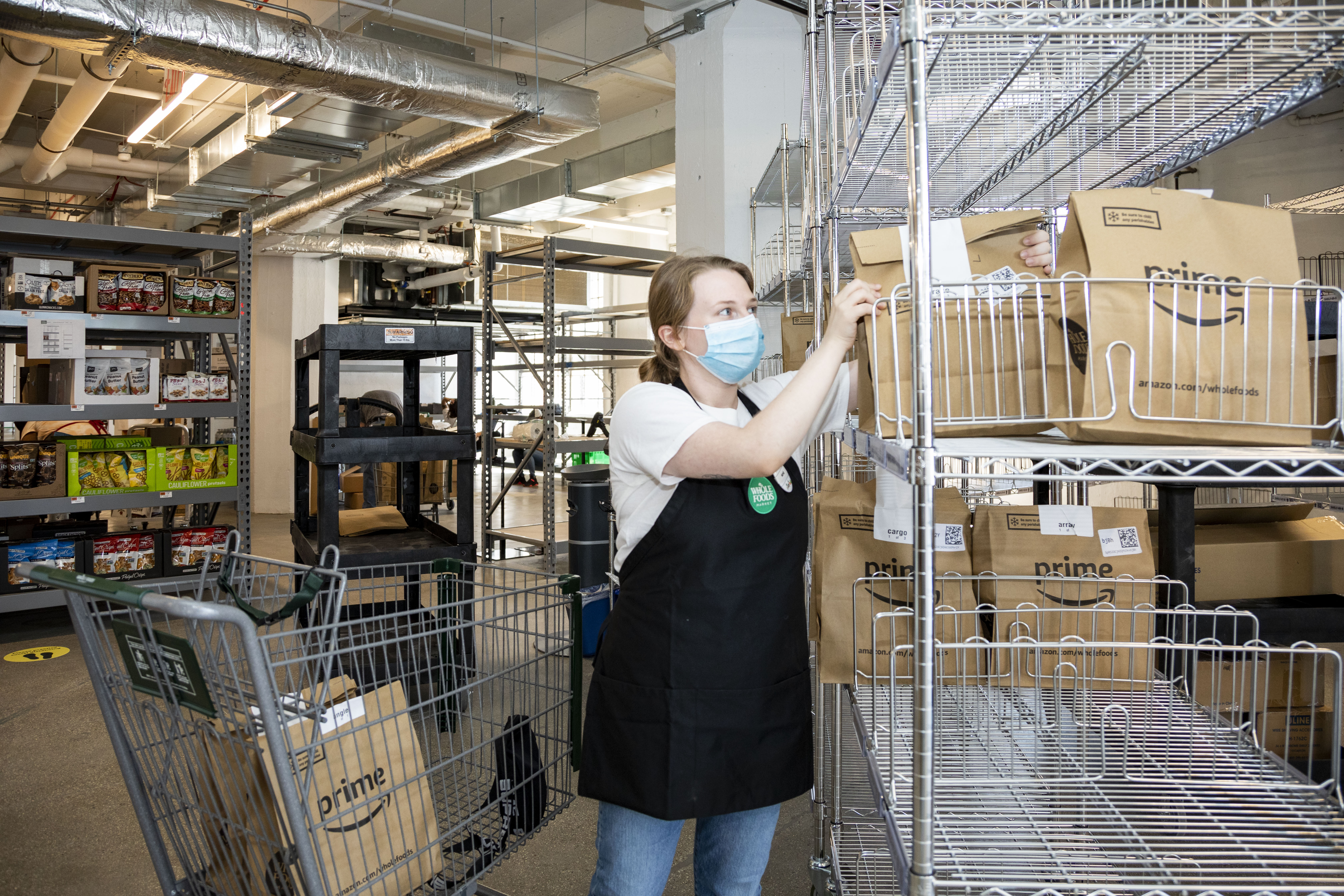 Grocer Whole Foods, an Amazon subsidiary, is testing an online-based, delivery-only model in New York's Brooklyn borough. (Whole Foods)