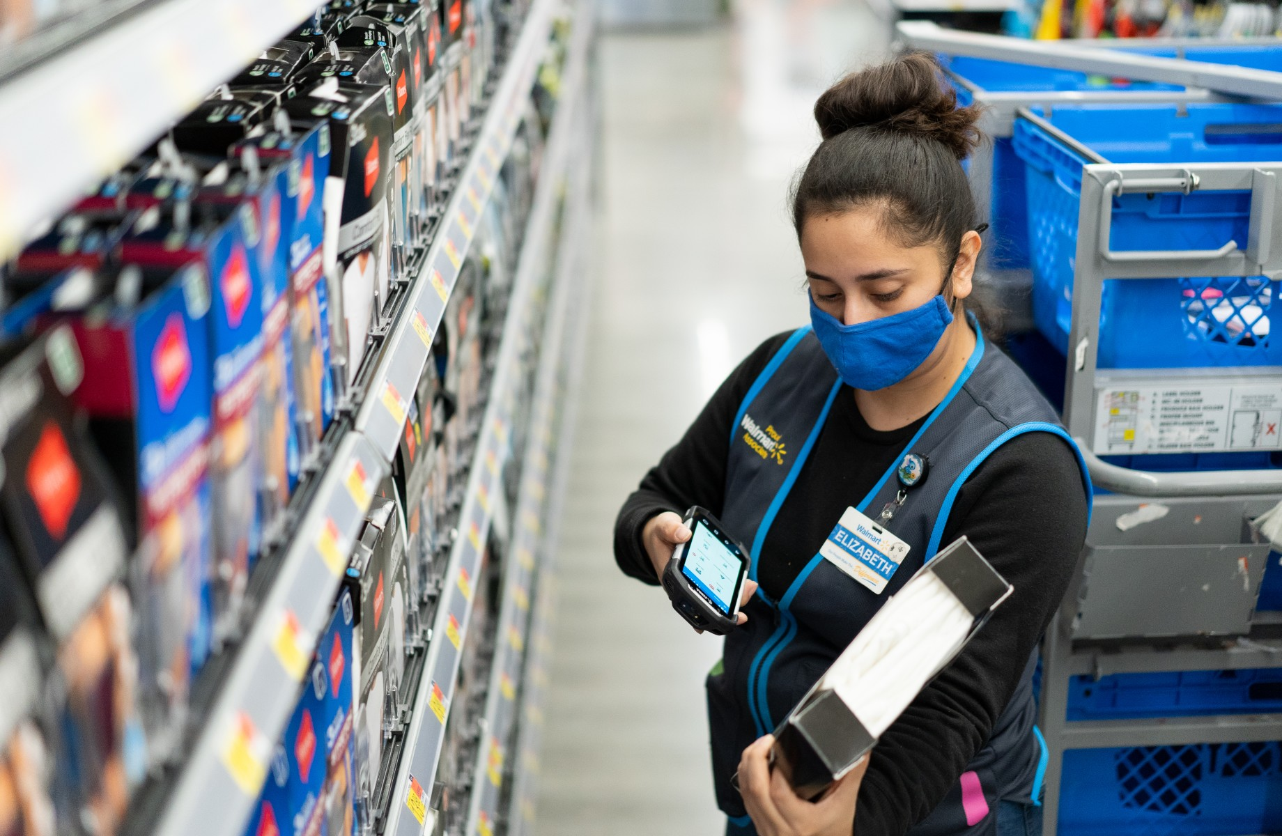 Walmart is repurposing four stores as experimental locations for training employees on how to better meet the growing demands of digital shopping. (Walmart)