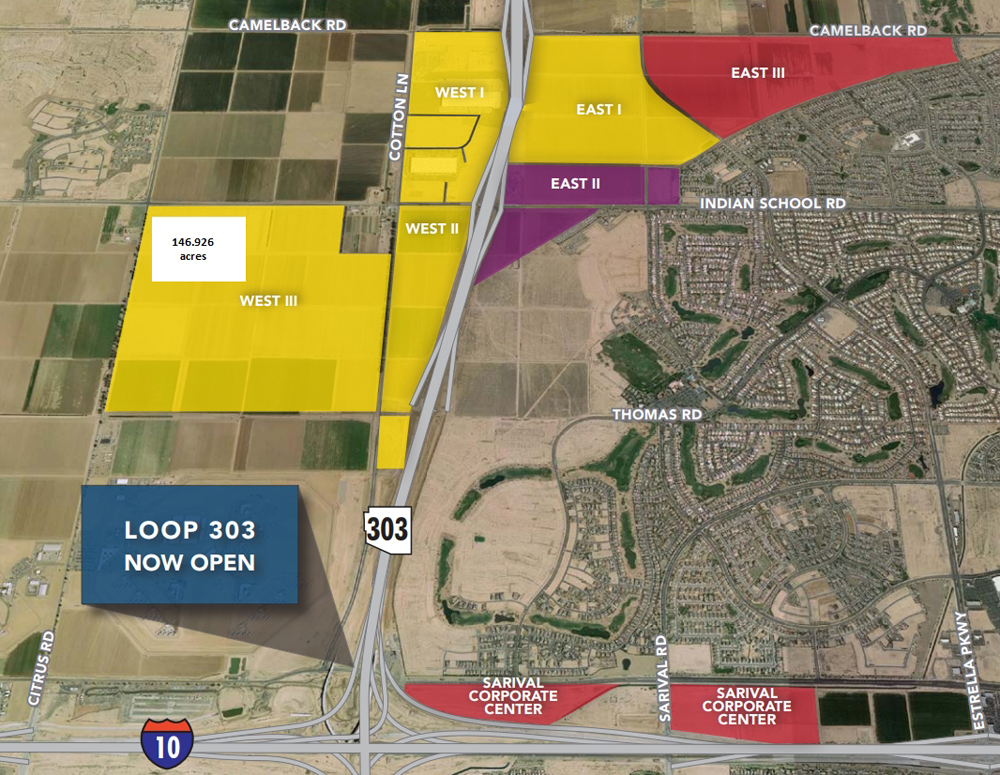Map Of Loop 303 Arizona.Microsoft Mysteriously Expands To 400 Acres In Goodyear Arizona