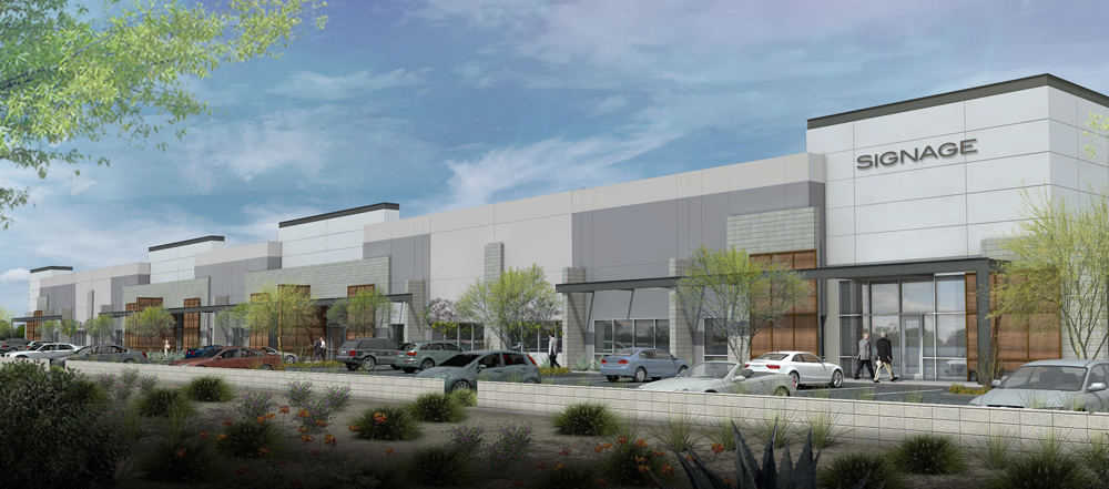 The timing is right for EastGroup's new industrial park, with the vacancy rate in the area at around 6 percent and dropping. Illustration: Colliers International