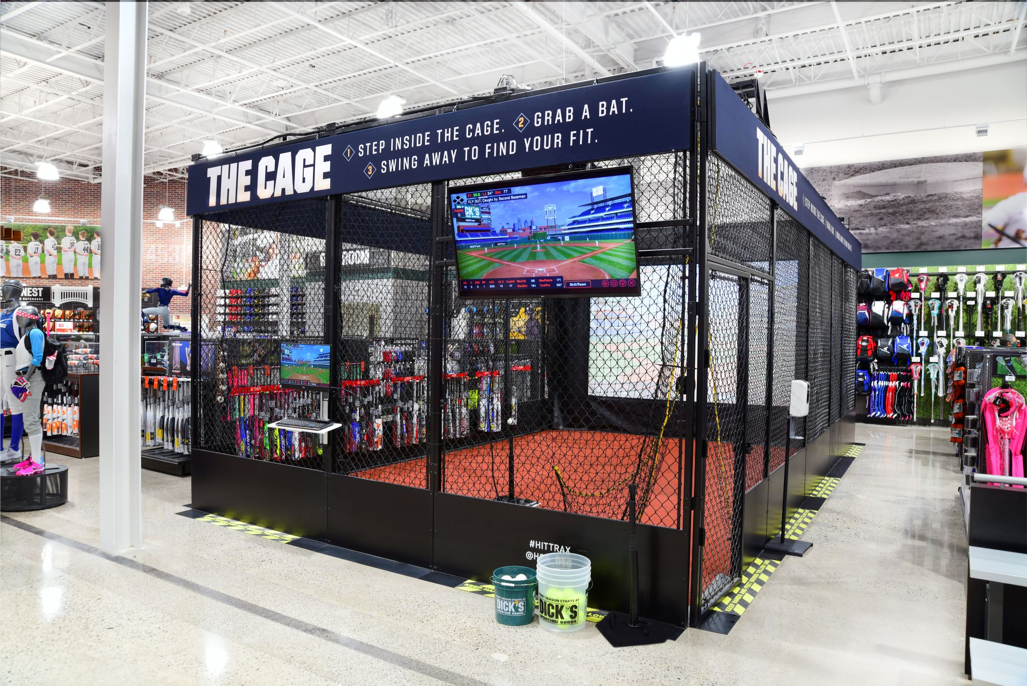 Dick?s Sporting Goods sees offering experiences such as high-tech batting cages in stores as the future of retail. (Dick?s Sporting Goods)