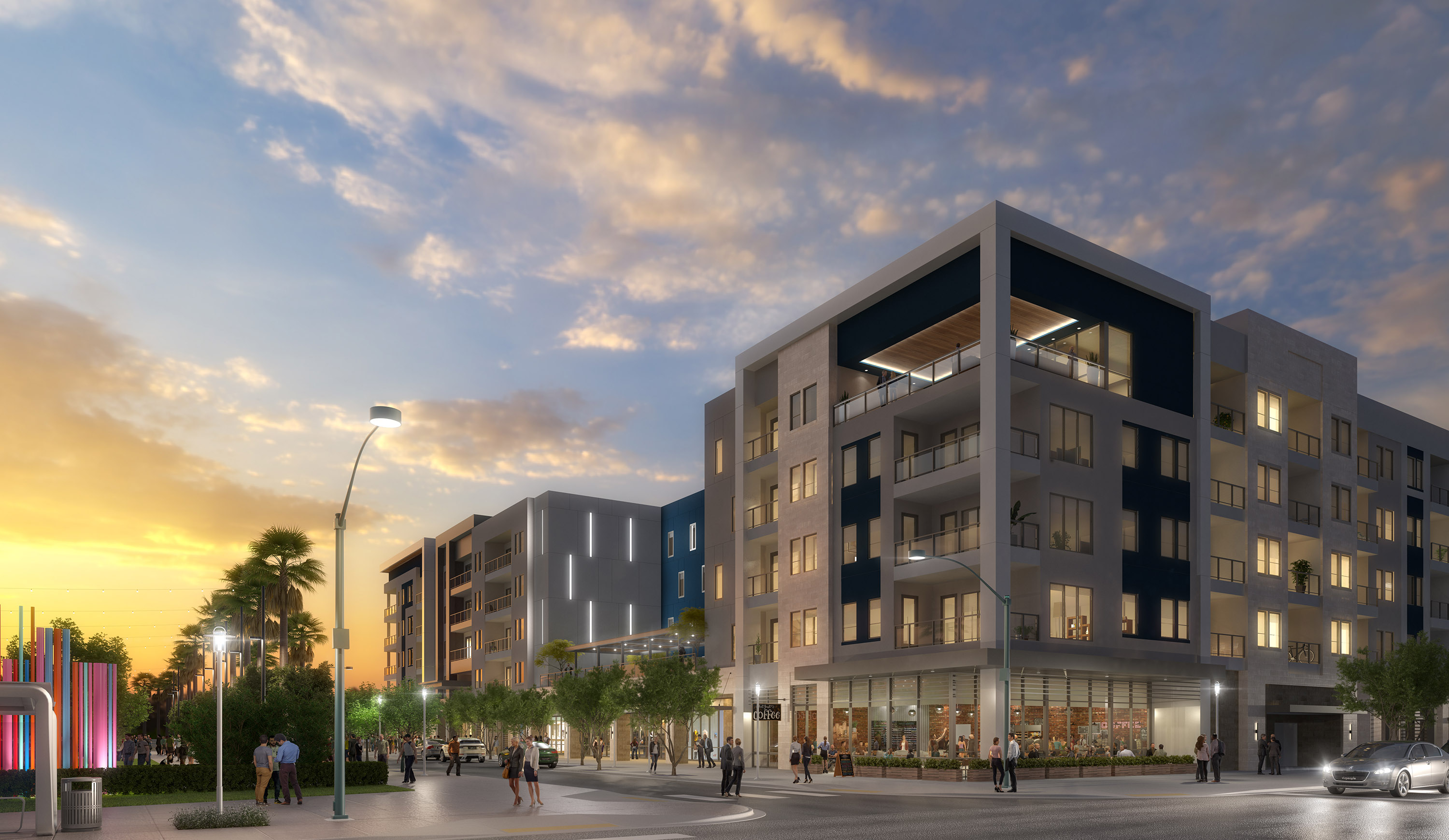Southern Land Co.'s Auric Symphony Park apartment complex is being built in a Las Vegas opportunity zone. (Southern Land Co.)