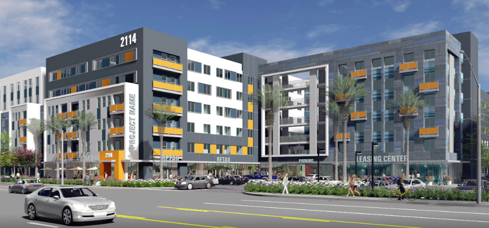 AMG & Associates and its partners are scheduled to break ground this spring on a 552-unit affordable housing project in Santa Ana, California. Photo: NAI Capital