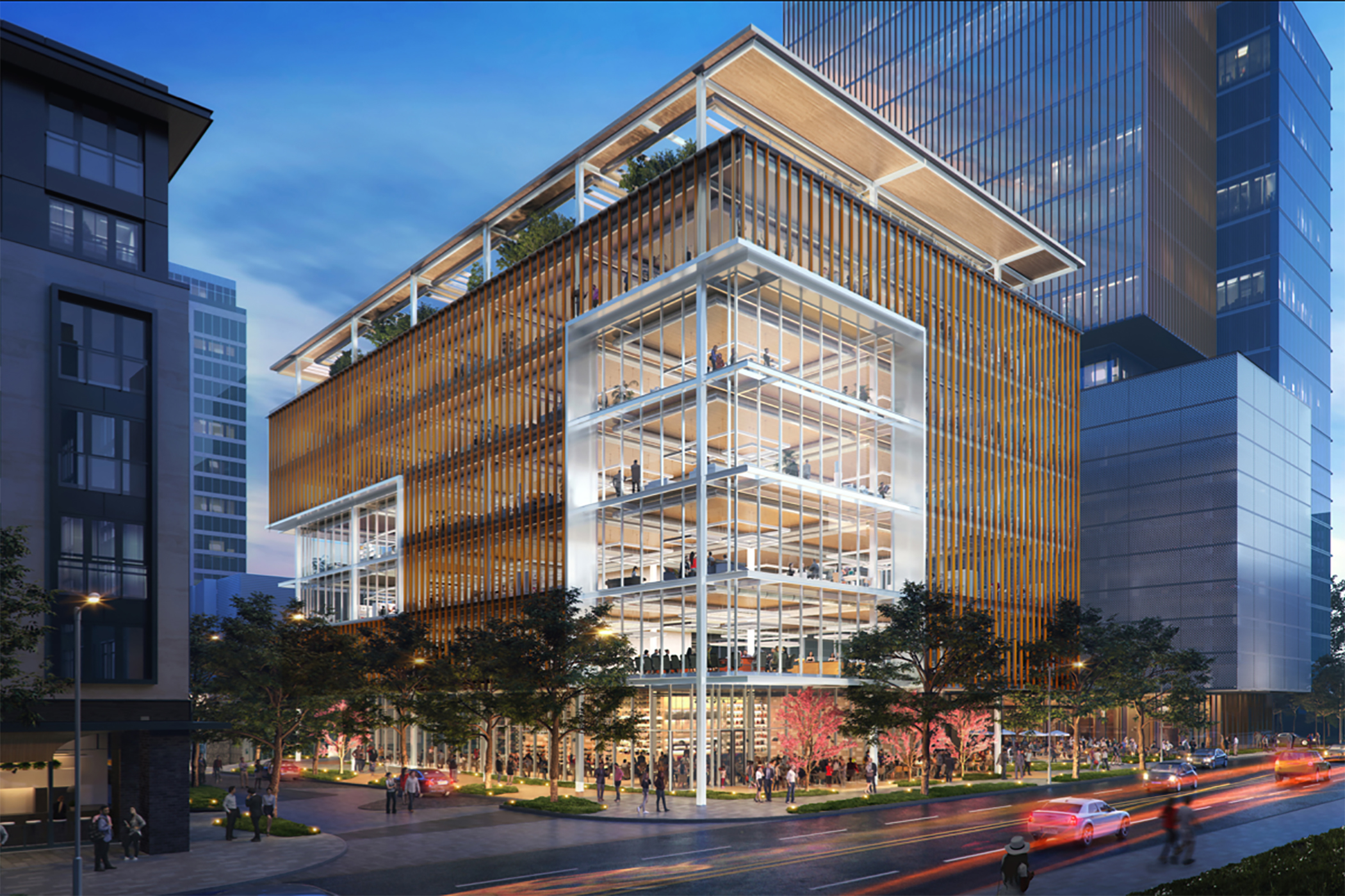 A boutique office project is tentatively set to break ground next year in what could be Houston's first office building constructed of cross-laminated timber. (Local Partners)