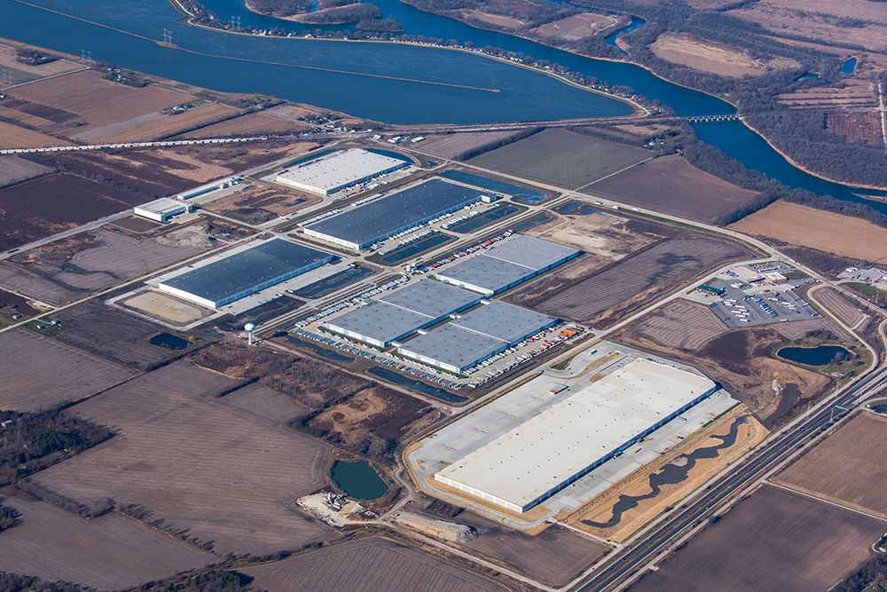 The Michelin super-regional center, one of two in the United States, sits across 91 acres in Wilmington, Illinois, about 60 miles southwest of Chicago. (JLL)