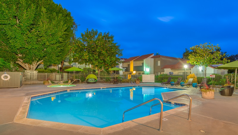 The sale of the 154-unit Hidden Hills in Vista was among the latest of several recent big local apartment deals outside the city of San Diego. <br/>Photo: CBRE Group