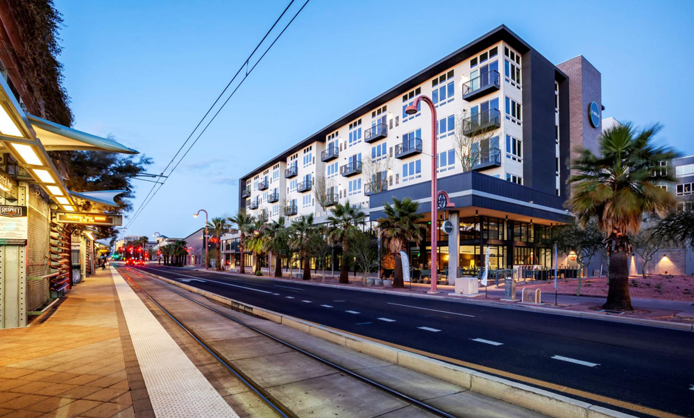 The Circa Central Avenue apartments are bicycle friendly and transit focused. Photo: Hunt Cos.