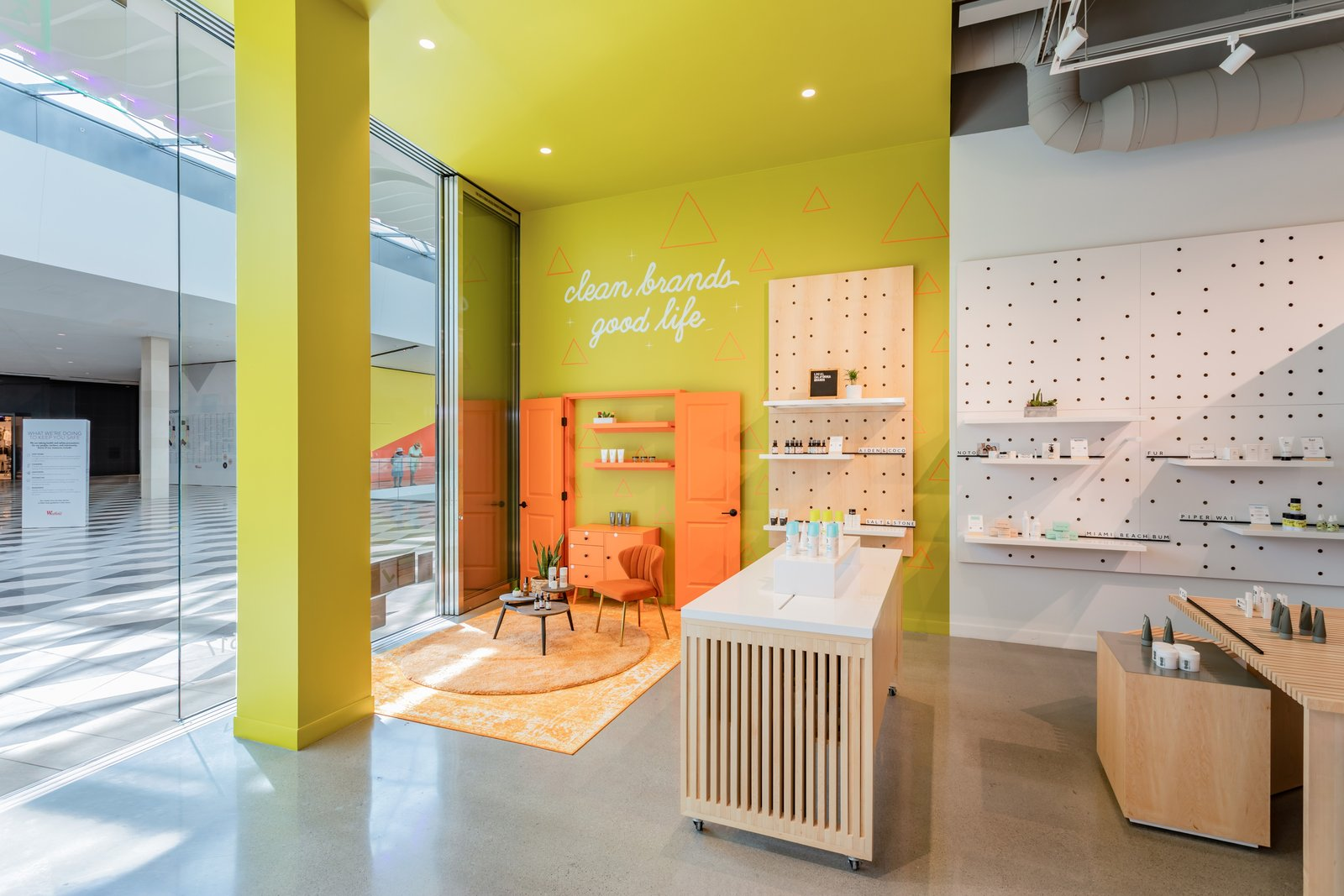 Brik + Clik store interiors display products in life-sized dioramas with ?air to breathe? to offer shoppers a taste of how they might work at home. (Brik + Clik)