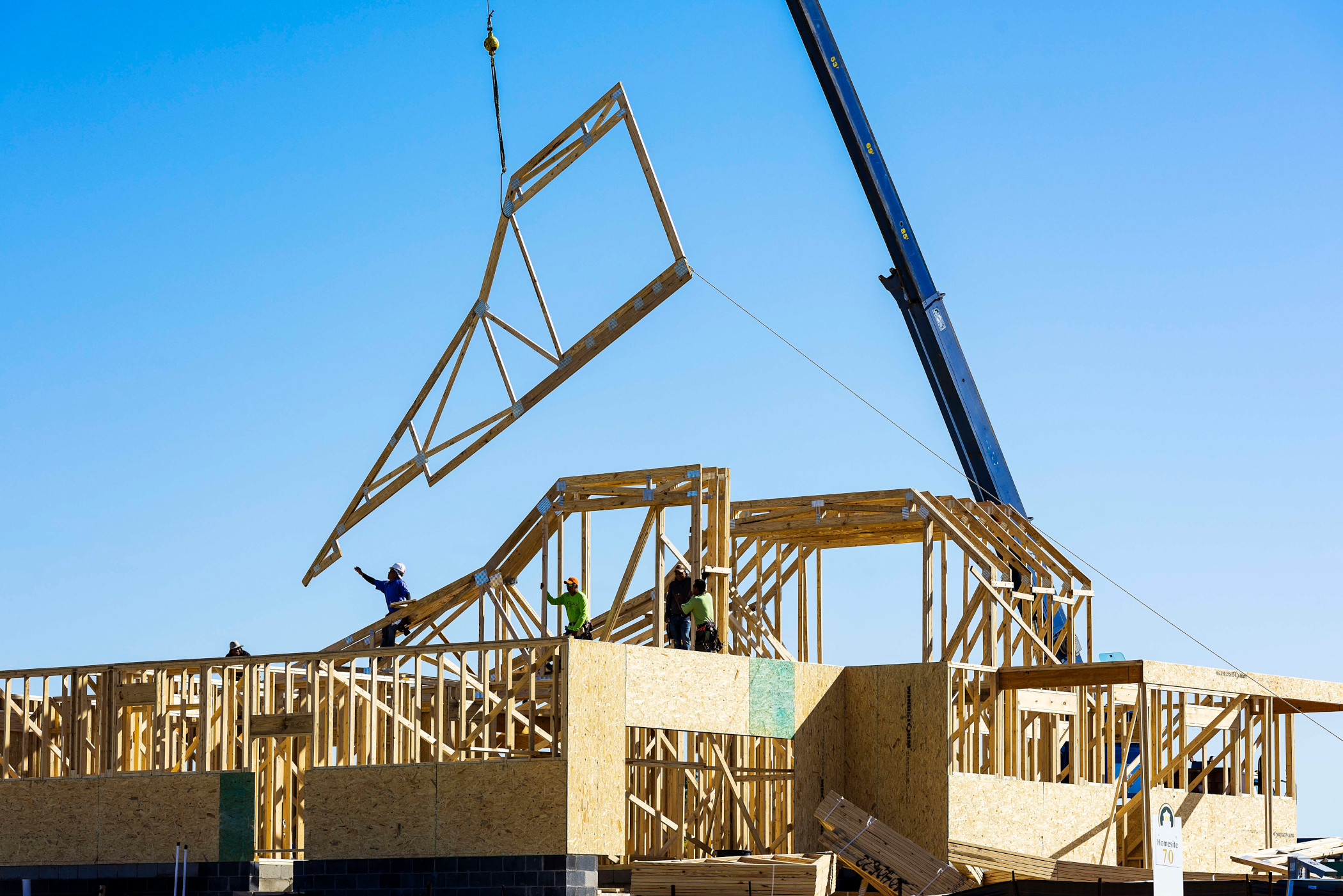 Framing lumber shortages have been a problem for homebuilders but a shortage of appliances is also troublesome. (Getty Images)