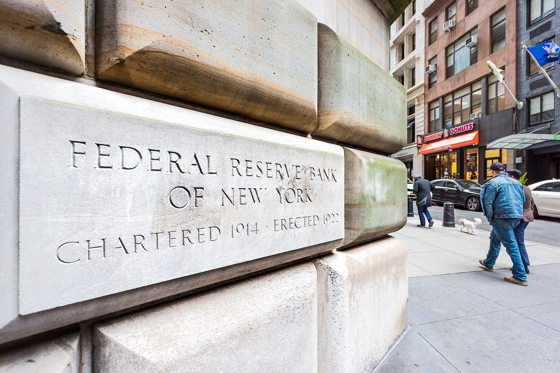 Federal Reserve Bank policymakers chose to leave U.S. interest rates unchanged. Pictured, the Federal Reserve Bank of New York in Manhattan. Photography: iStock