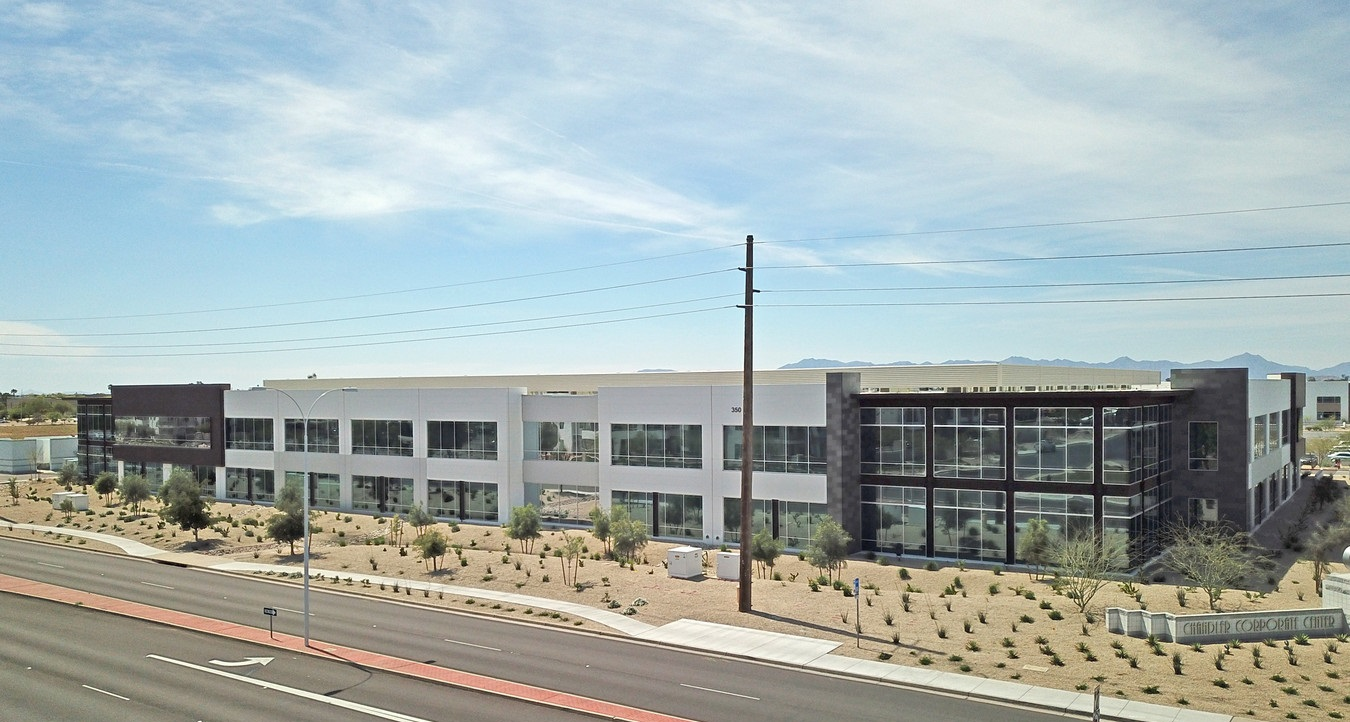 Following Allstate's expansion announcement, the insurance firm occupied 117,400 square feet at One Chandler Corporate Center in Chandler, Arizona, in January. Photo: CoStar