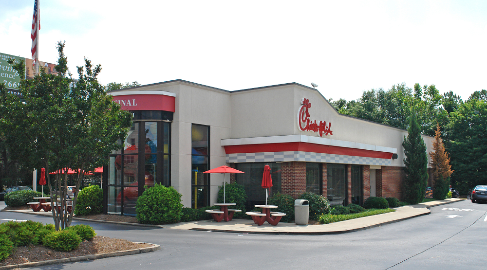 Net lease properties like those housing Chick-fil-A stores can be attractive to small investors. Photo: CoStar