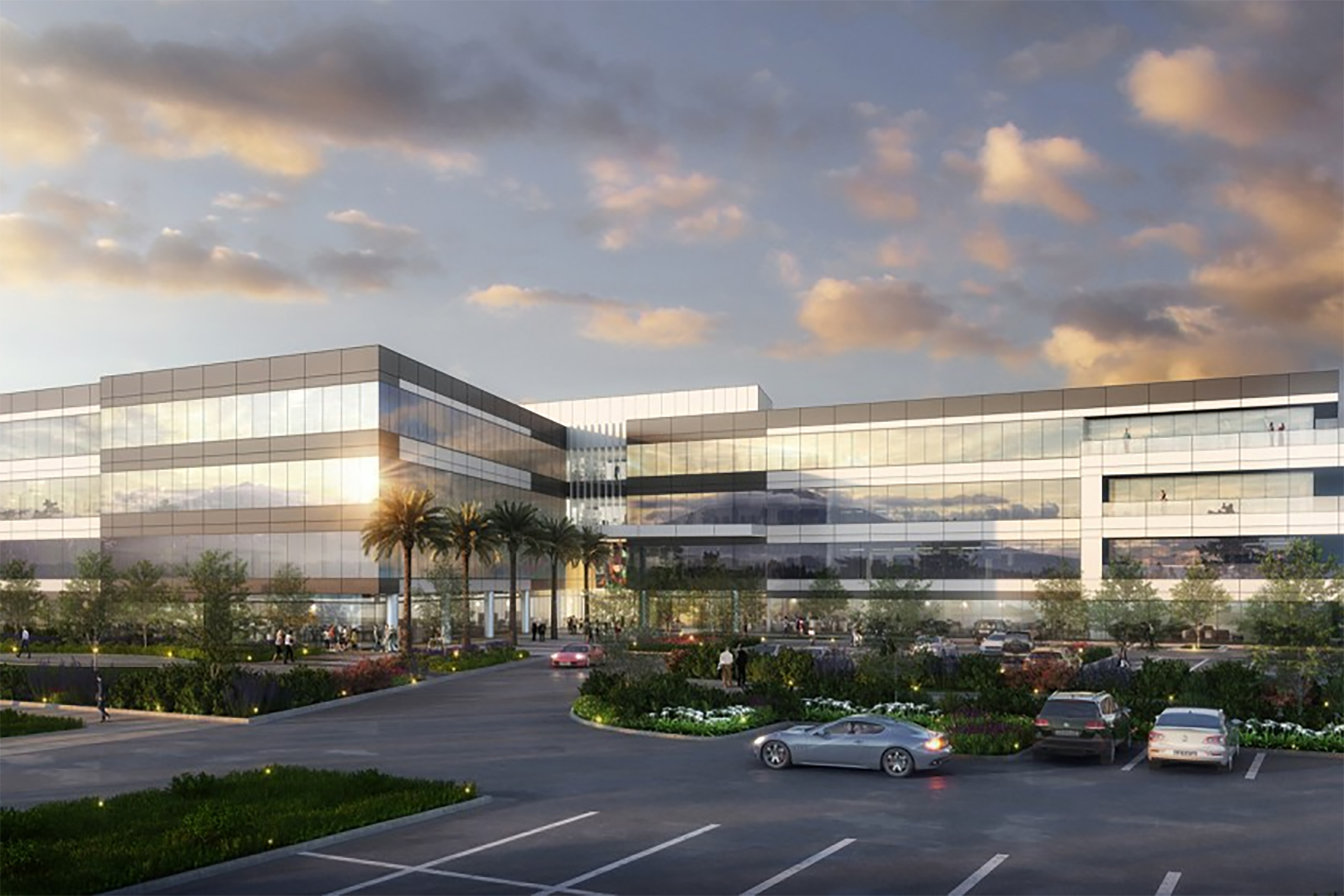 Lincoln Property's first four-story building is speeding toward completion in Mesa, Arizona. (LPC Desert West)