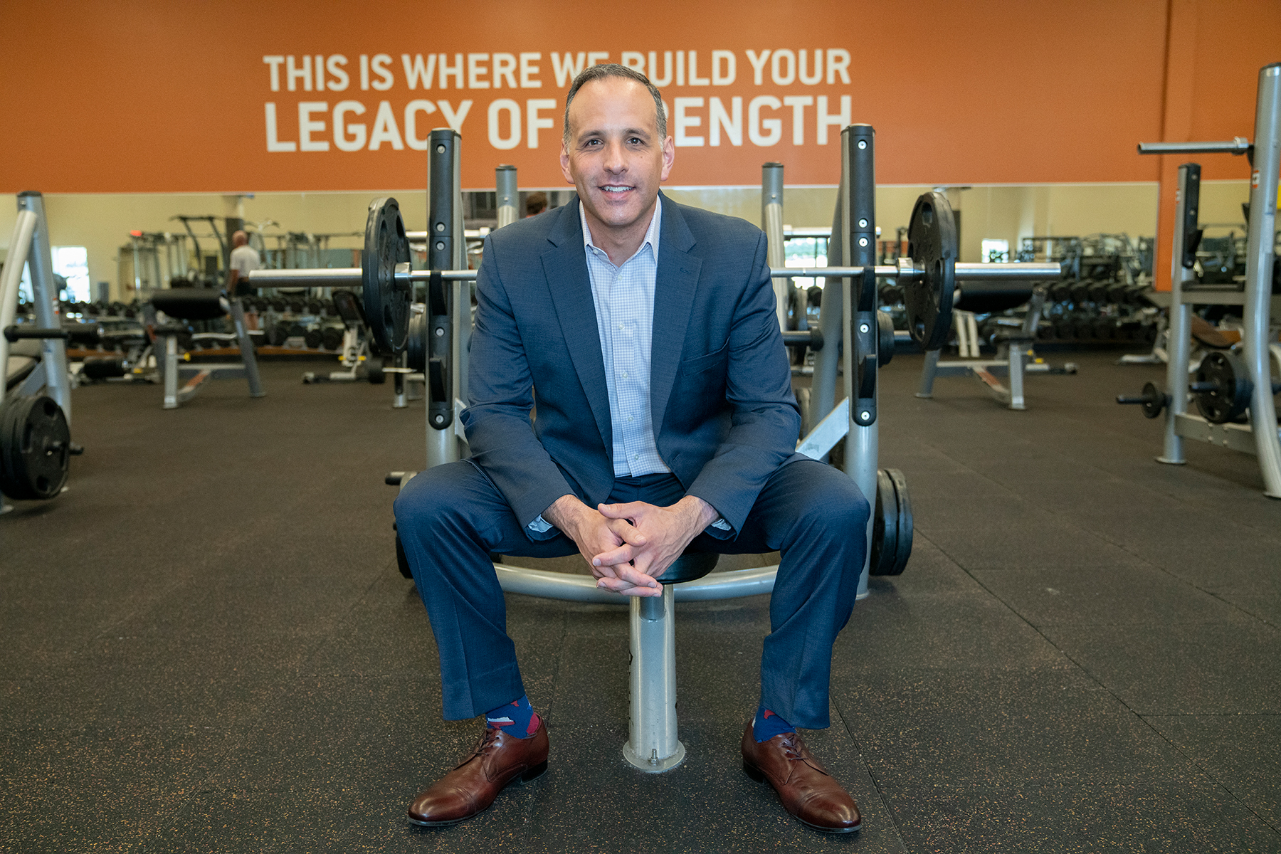 "Gold's Gym President and CEO Adam Zeitsiff says the fitness brand known for its ""big box"" gym model plans to emerge from Chapter 11 bankruptcy with a trimmer business model. (Gold's Gym)"