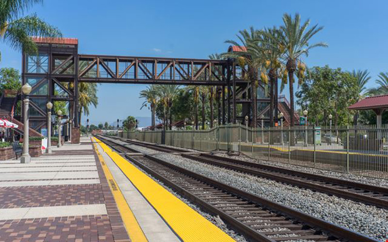A local developer is proposing a hotel next to the Fullerton's downtown Metrolink train station. Photo: Metrolink