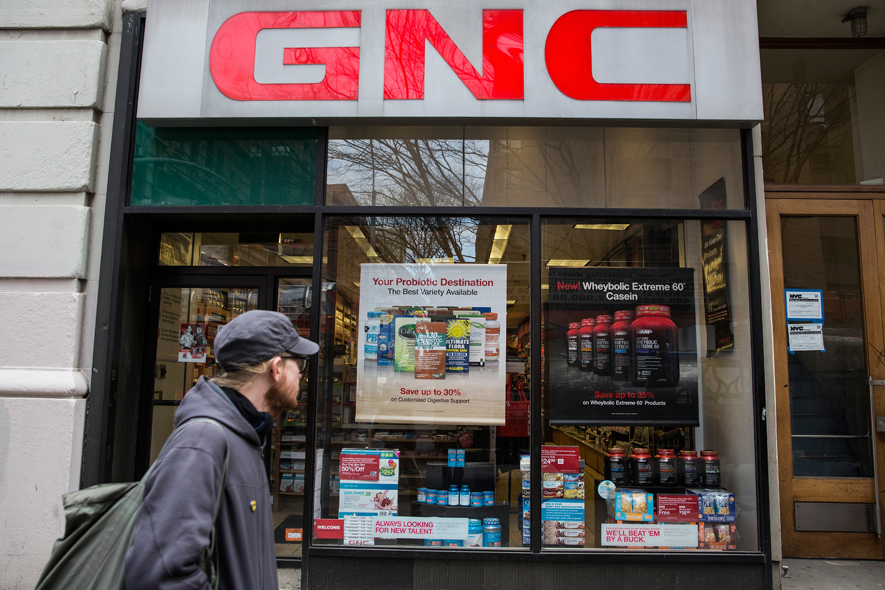 Retailers including GNC are closing stores across the United States. (Getty Images)